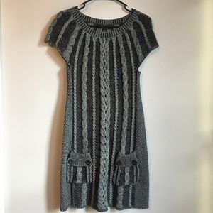 Style & Co. Short Sleeve Cable Knit Sweater Dress